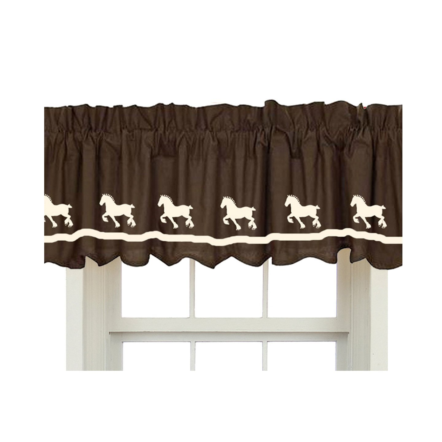 Belgian Draft Horse Window Valance Window Treatment – In Your Choice of Colors – Custom Made