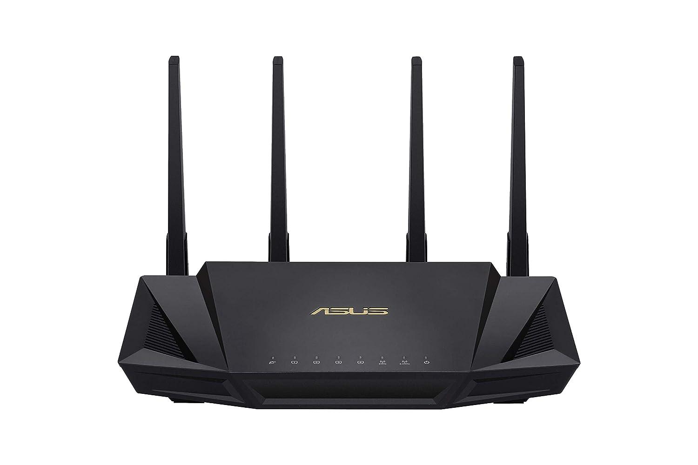 Ai Mesh WLAN System, WiFi 6 AX3000, Dual-Band, 4x Gigabit LAN, 1.5 GHz TC CPU, AiProtection, USB 3.0, 160 MHz Asus RT-AX58U Router