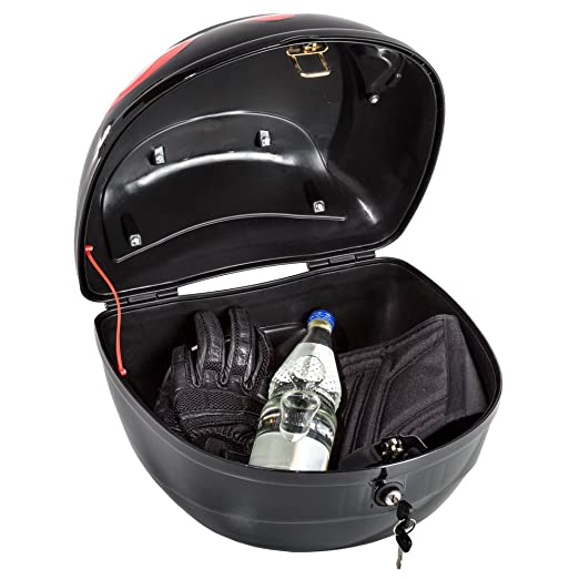 TecTake Universal baúl de moto scooter maleta motocicleta topcase negro 38x40x30cm: Amazon.es: Coche y moto