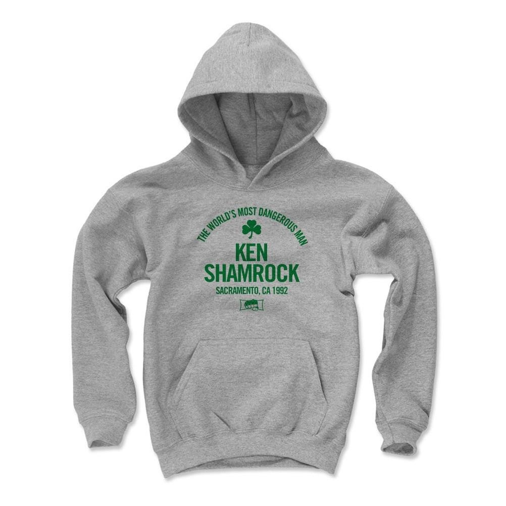 500 Level Ken Shamrock Kids Youth Hoodie L Gray - Ken Shamrock Text G - Officially Licensed by Pro Wrestling Tees by 500 Level