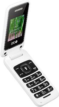 Oferta amazon: SPC Flip - Teléfono móvil (Dual SIM, Números y letras grandes, Agenda hasta 300 contactos, Bluetooth) – Color Blanco