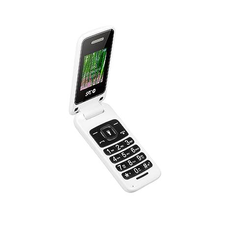 SPC Flip- Teléfono móvil (Dual SIM, Números y Letras Grandes, Agenda hasta
