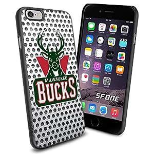 Milwaukee Bucks Logo Net iPhone 6 4.7 inch Case Black Rubber Cover Protector