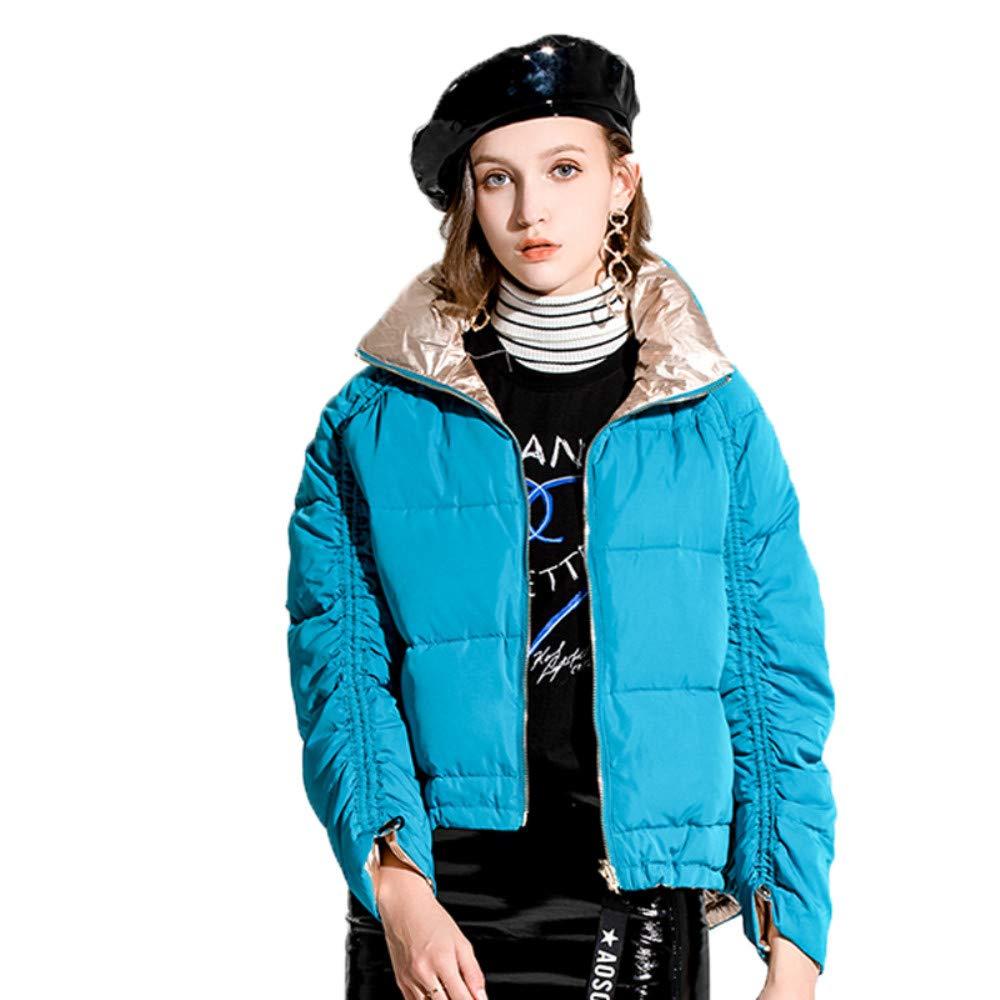 MOOCARE Chaqueta de Plumaje para Mujer Abrigo De Mujer Invierno Doble Cara Moda Informal Más Gruesa Abajo Chaqueta,