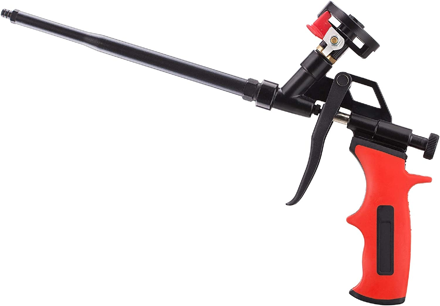 SocsPark Needn't Clean Foam Gun, Pu Expanding Foaming Gun, Upgrade Caulking Gun, Heavy Duty Spray Foam Gun, Mental Body Covered with PTFE, Suitable for Caulking, Filling, Sealing, Home and Office Use