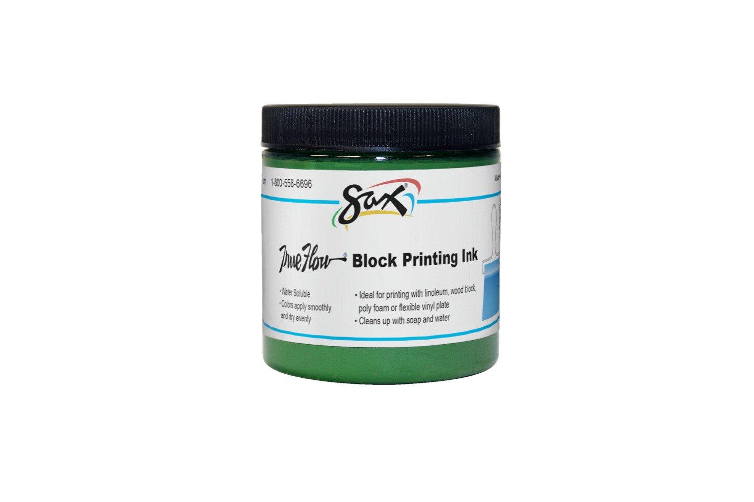 Sax True Flow Water Soluble Block Printing Ink - 8 Ounce Jar - Green