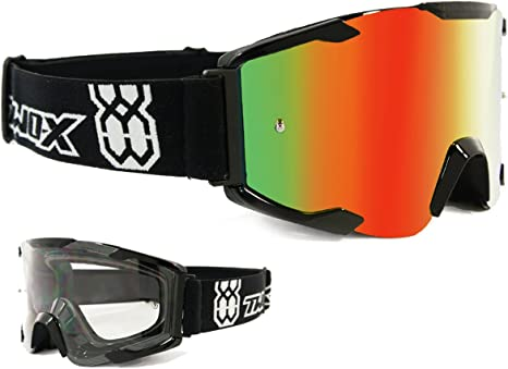 Oneal MX Crossbrille 18 Motocross Enduro Downhill Brille verspiegelt klar