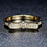 F&F Ring Sterling Silver Bow Knot Stackable Ring Fine Jewelry for Women Wedding Rings