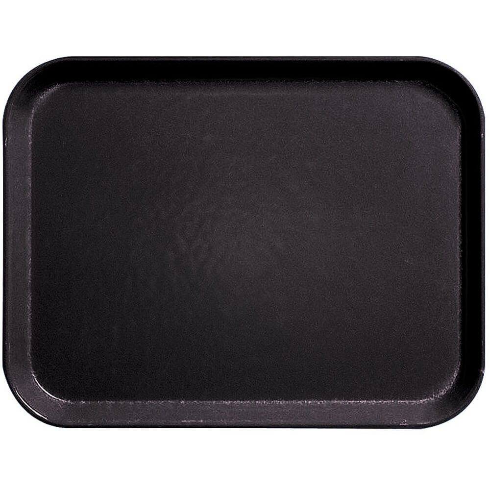 Cambro 10'' x 14'' Fiberglass Food Trays, Economy Line, 12PK Black 1014CL-110