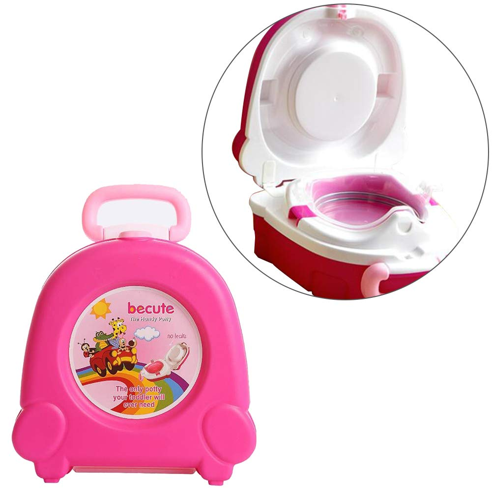 Baby Portable Travel Potty Anti Slip Potty Toilet Training Seat Perfect for Camping Traveling Car Vacations Pink 1PC