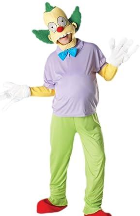 erdbeerloft - Hombre Disfraz Krusty The Clown con Top, mosca ...