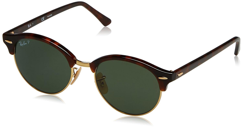 5e32be47cb Amazon.com  Ray-Ban Clubround Polarized Round Sunglasses