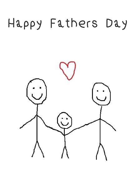 Tarjeta de dibujo infantil para el día del padre de Gay ...