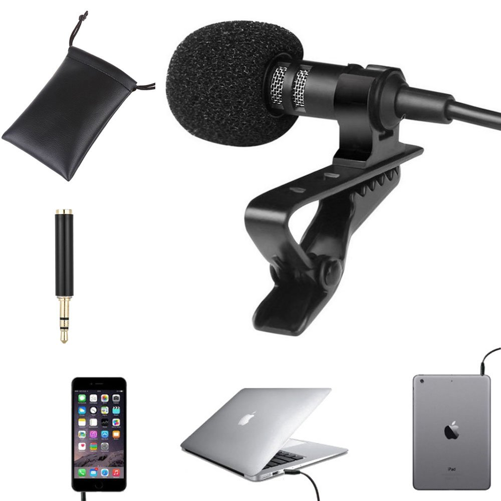 ZYSWS Lavalier microphone phone microphone Recording microphone for phone/computer Recordings for YouTube(C4 poles)