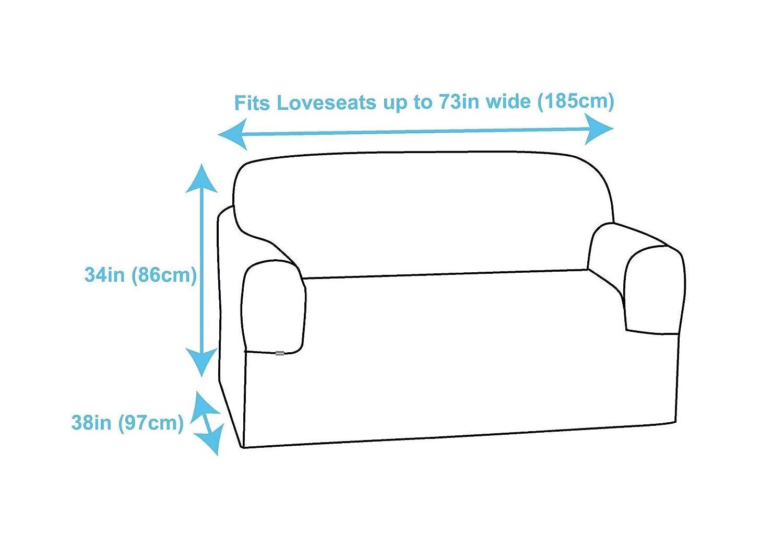 Tan Casual Living Pique Love Seat Slipcover