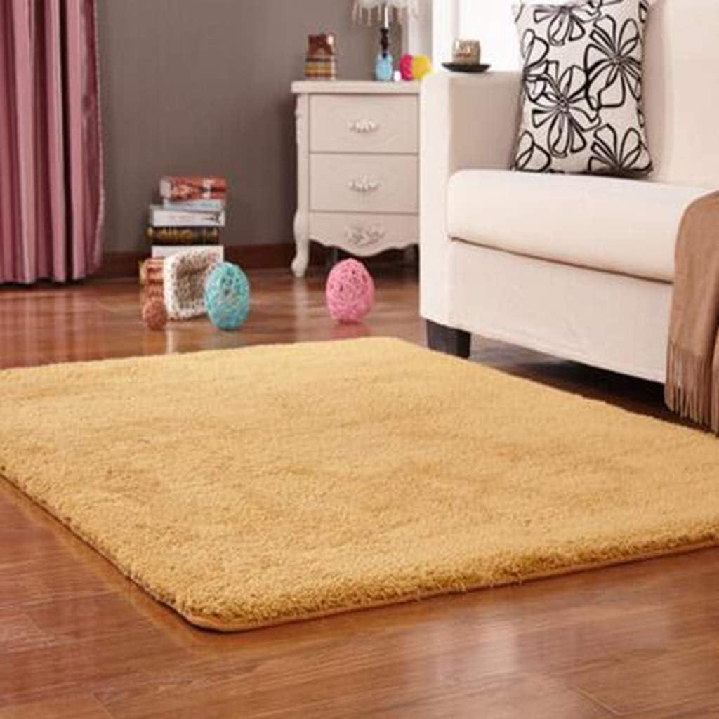 CarPet Household Living Room Bedroom Bedside Flat Stair Mat Crawling Mat Polyester Material Wear-Resistant Anti-Slip Color : Beige, Size : 160200cm