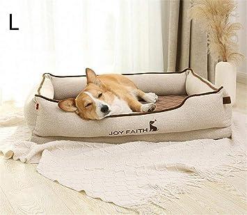 FVCDWSA Cama para Mascotas, Suministros para colchones para Perros, Cuatro Estaciones, Tiempo de Descanso cómodo y Universal Lavable,L: Amazon.es: Deportes ...