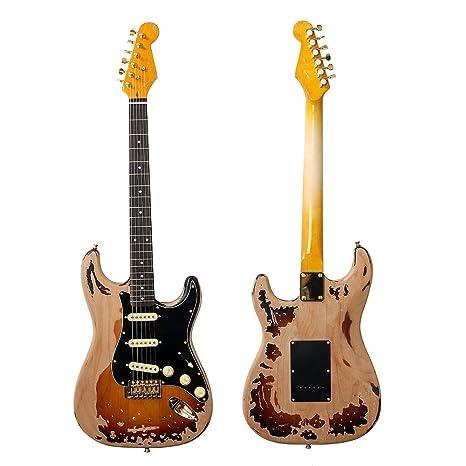 22 trastes SRV Guitarra eléctrica Eged Hardware Alder cuerpo palisandro Diapasón Instrumento de Música – Guitarra