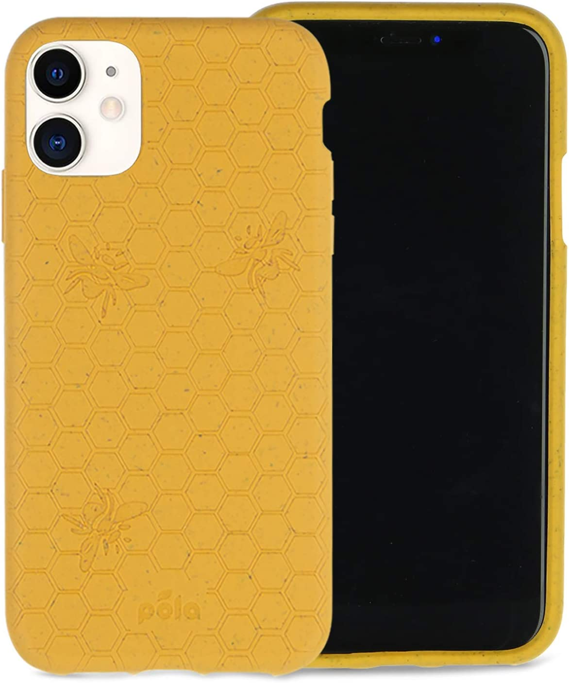 Pela: Phone Case for iPhone 11-100% Compostable and Biodegradable - Eco-Friendly - Made from Plants (11 Honey Bee)