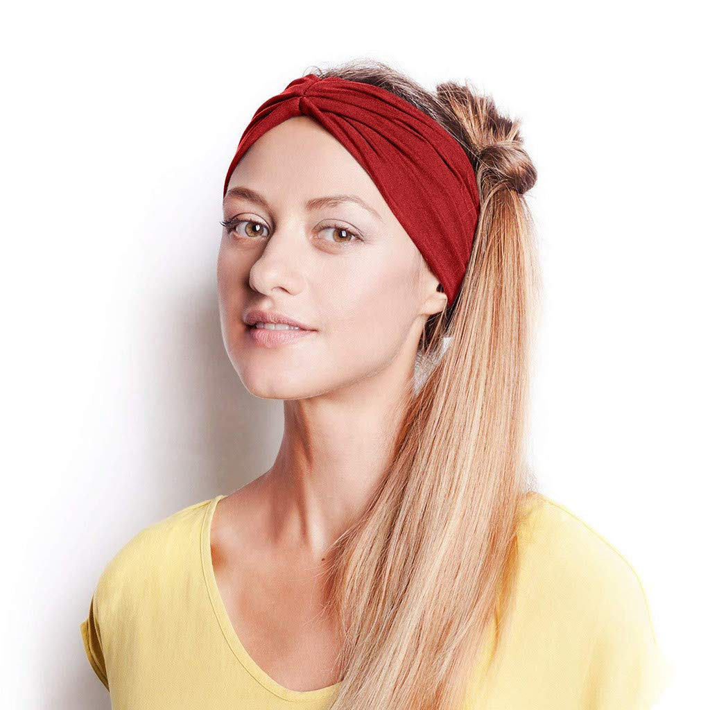 Learned Solid Twisted Knotted Headband For Women Lady Cross Hair Bands Wide Elastic Turban Girls Hair Hoop Headwraps Hair Accessories Apparel Accessories
