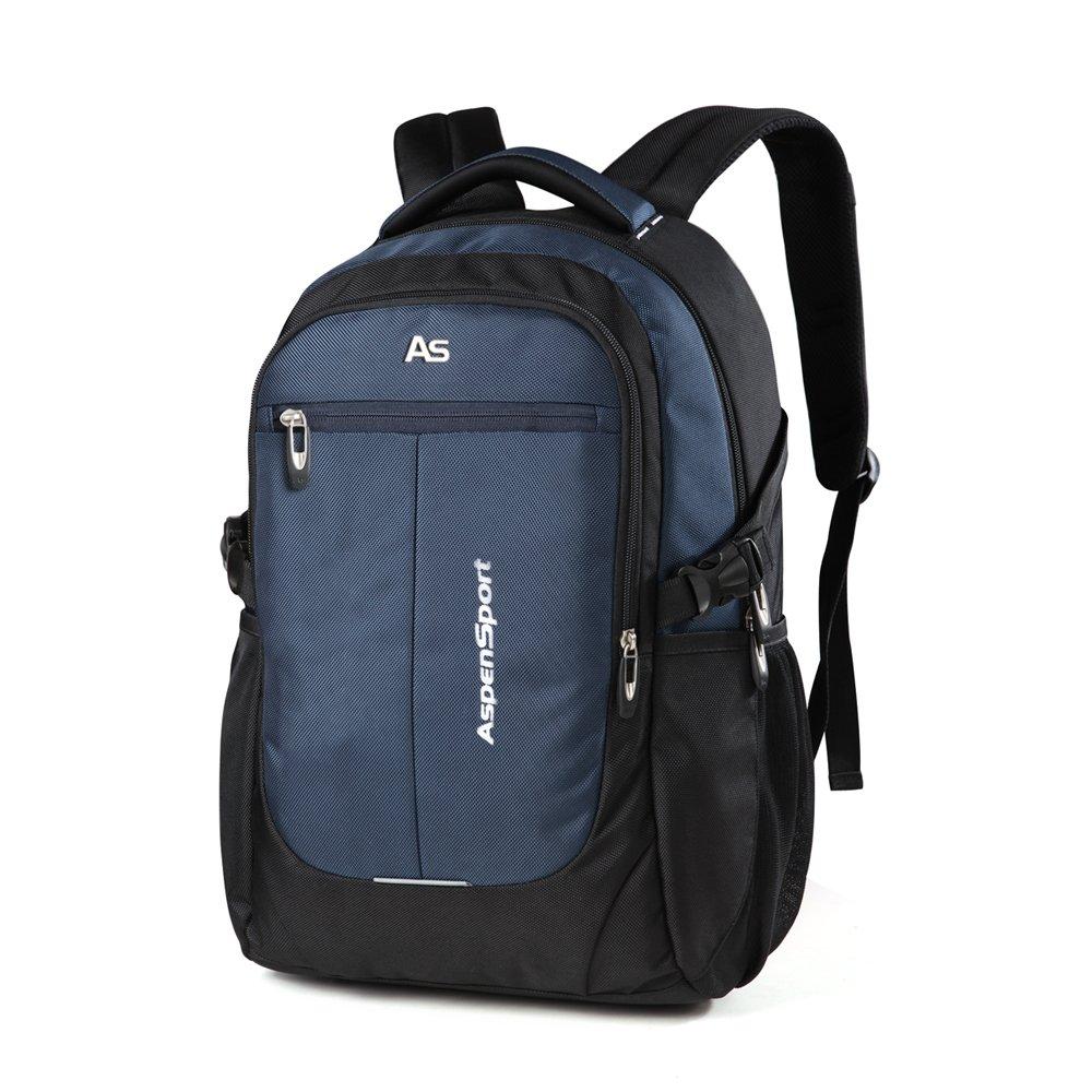 ASPENSPORT Laptop Backpacks for Men&Women Computer Travel Bags Fits 15.6 Inch College Large Bookbags Durable Rucksacks Blue