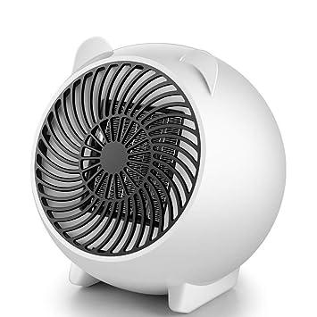 JDEG Calefactor Portátil Eléctrico, Mini Ventilador Calefactor, Función Silence Y Protección Contra Sobrecalentamiento Conveniente Para El Dormitorio, ...