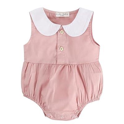 LUCKYCAT Nouveau-né infantile bébé garçon filles impression d'été Barboteuses tenues vêtements Charmant À la mode Populaire Bonne qualité Petite fille