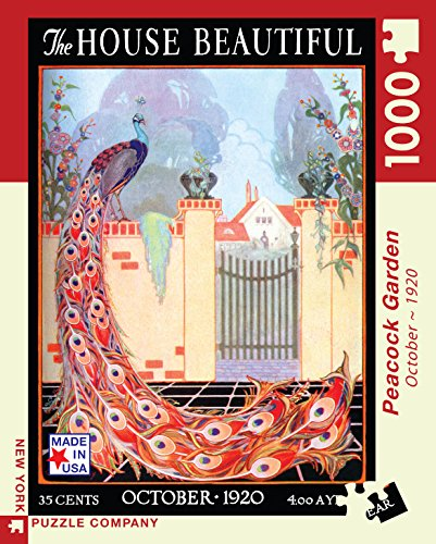 Peacock Garden House Beautiful 1000-Piece Puzzle
