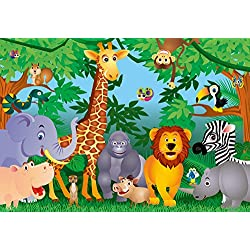 Ideal Décor DM122 In the Jungle 144-Inch-by-100-Inch 8-panel mural