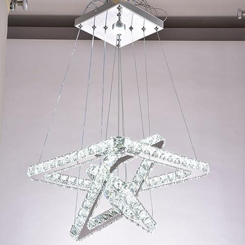 Led Swirl Six Ring Chandelier Pendant Light Contemporary: Chandelier Modern Crystal Round: Amazon.com