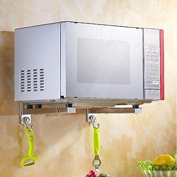 AYHa Estante plegable de acero inoxidable para horno de microondas ...