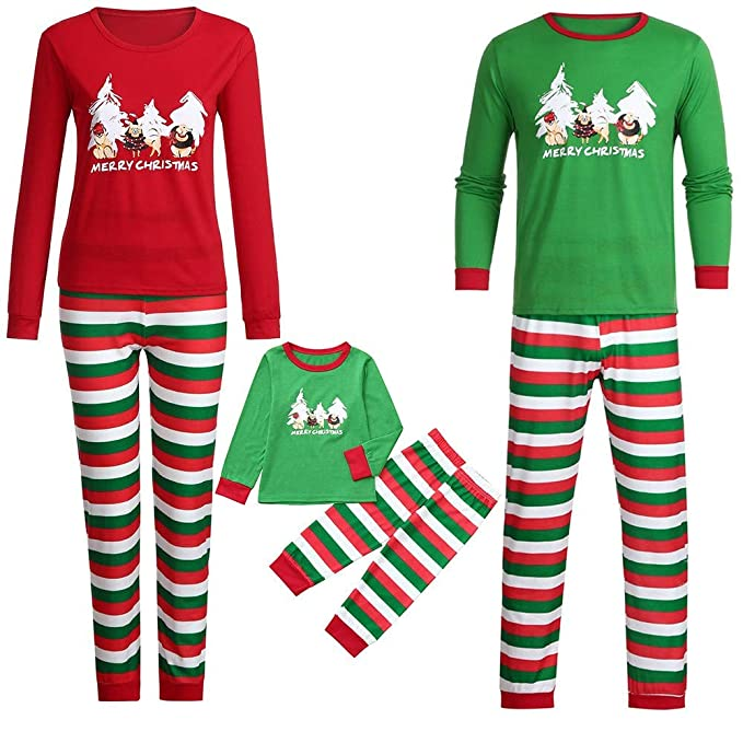 Lurryly❤Family Matching Pajamas for Halloween Set Kids Baby Tops Blouse Pants Sleepwear Outfits