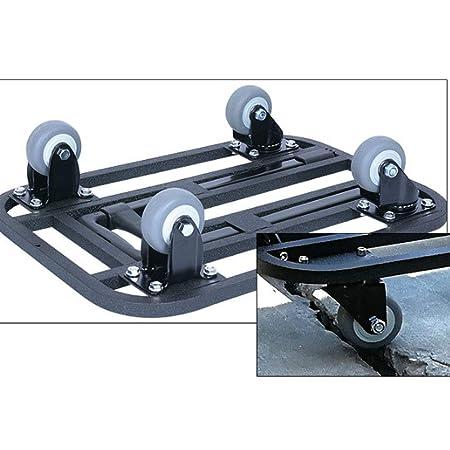 zusammenklappbar Plattformwagen mit 4 drehbaren abschlie/ßbaren Rollen Trolley f/ür Gep/äck,Black,2inchwheel QIANGGAO Faltbarer Handwagen und Transportwagen mit 225 kg Kapazit/ät