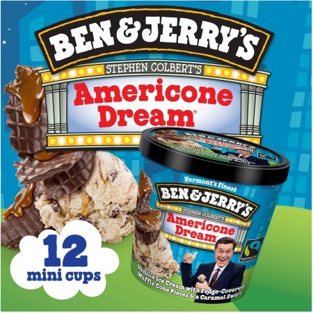 Ben & Jerry's - Vermont's Finest Ice Cream, Non-GMO - Fairtrade - Cage-Free Eggs - Caring Dairy - Responsibly Sourced Packaging, Americone Dream, 4 Oz. Mini Cups (12 Count)
