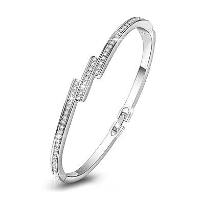 bb73659f959f5 Kami Idea Cadeau Saint Valentin Femme Bracelet Poussière d étoiles Cristaux  de Preciosa Bijoux pour