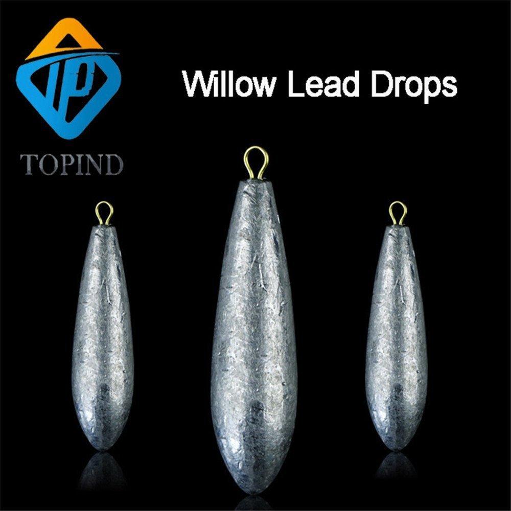 TOPIND Willow Type de p/êche en mer Poids Lot Laisse Drop Shot Poids 5/par lot p/êche Sinker