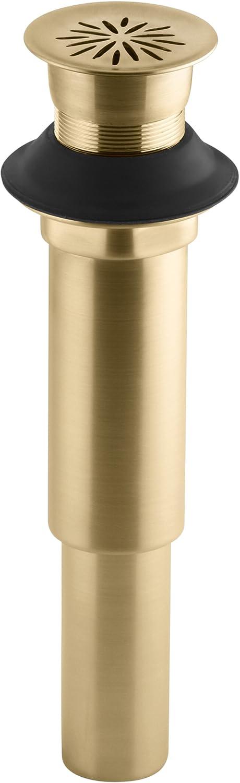 Kohler K-7107-BGD Decorative Grid Drain Without Overflow, Vibrant Moderne Brushed Gold