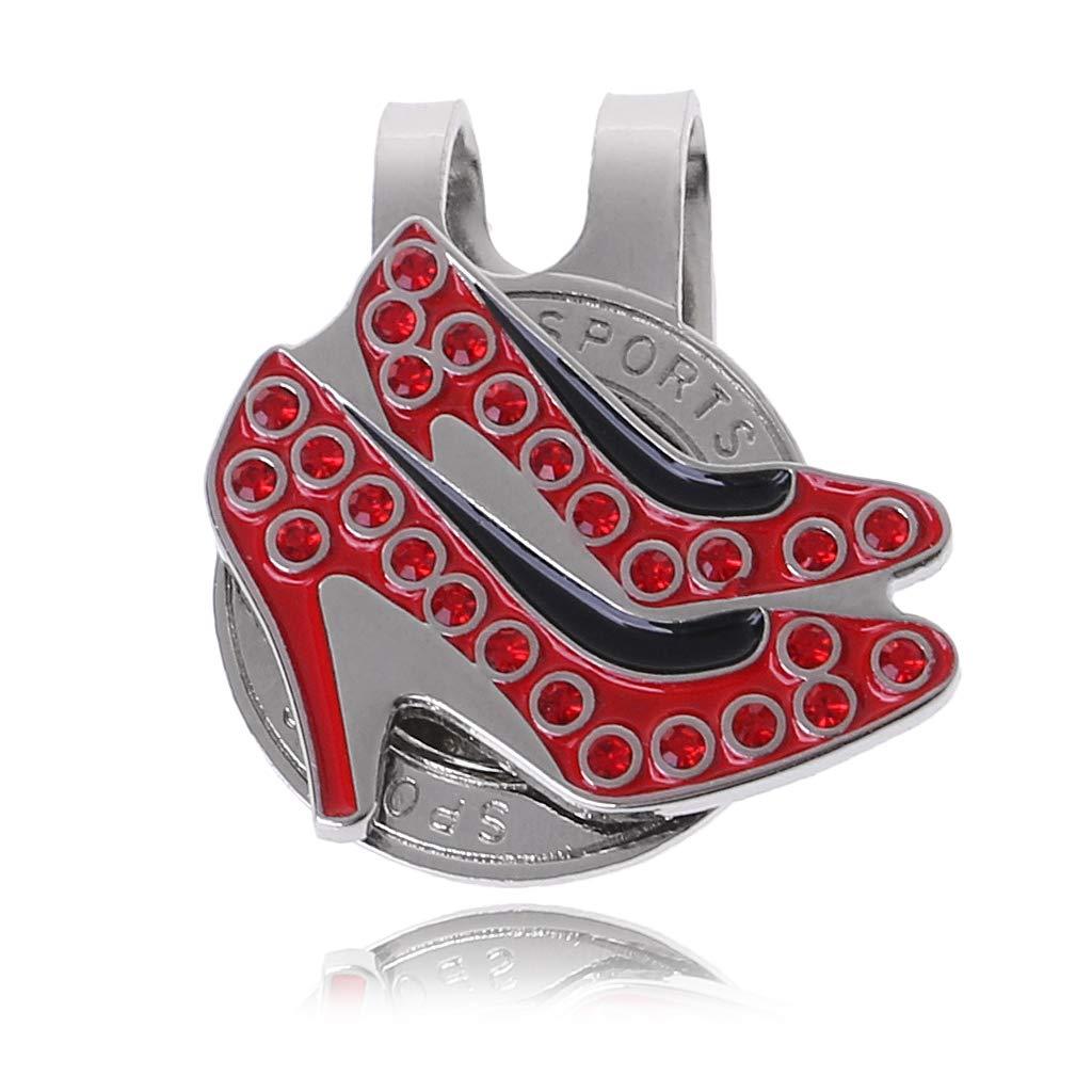 Onpiece ハイヒール ゴルフキャップ クリップ ボールマーカー 磁気帽子キャップクリップ付き   B07G8YMY6K