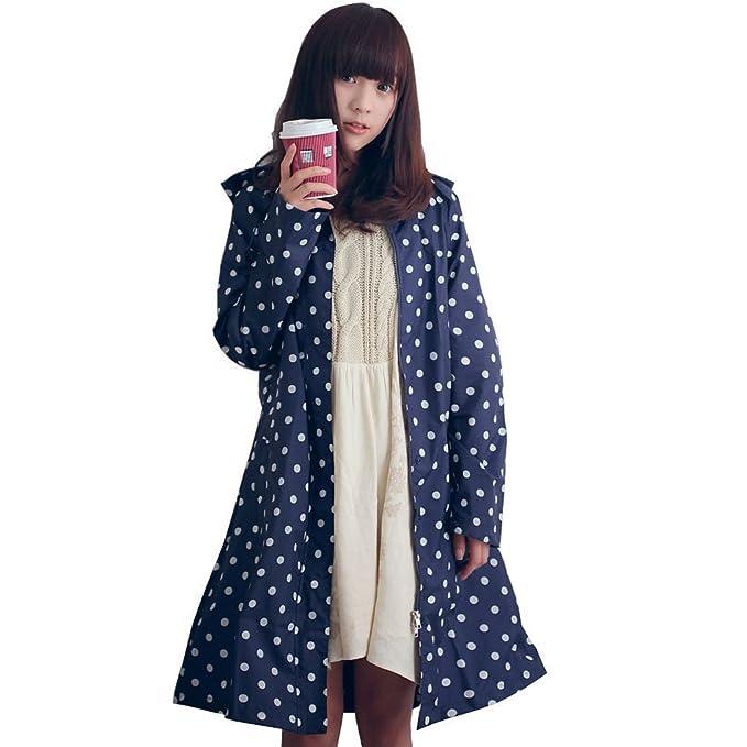 DAOKAI Fashion de lunares chaqueta impermeable para traje de ...