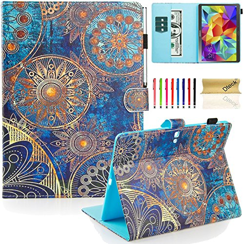Galaxy Tab S 10.5 Case, Dteck(TM) Slim Fit Colorful Cute PU Leather Flip Stand Case with Auto Sleep/Wake Function Wallet Cover Smartshell for Samsung Galaxy Tab S 10.5 inch SM-T800, Metal Ring