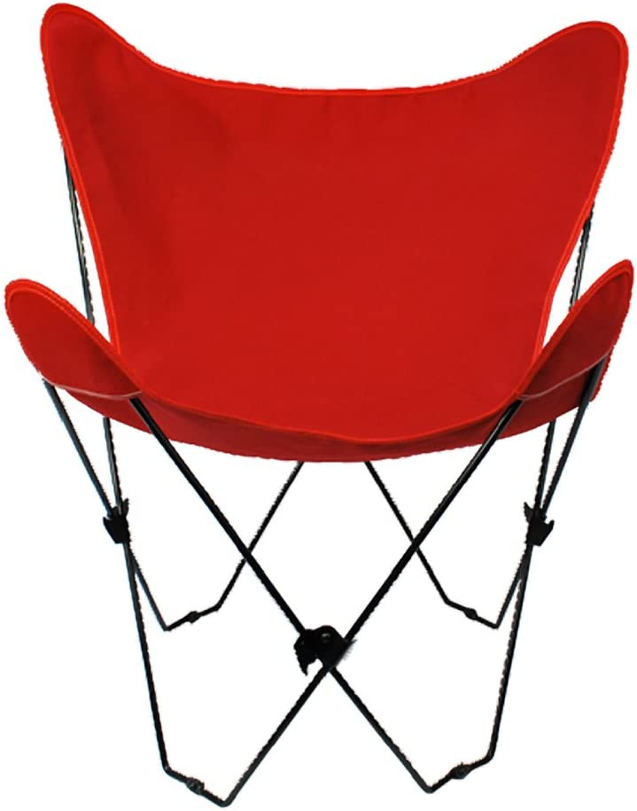 Algoma 4053-54 Butterfly Chair Black Frame, Red