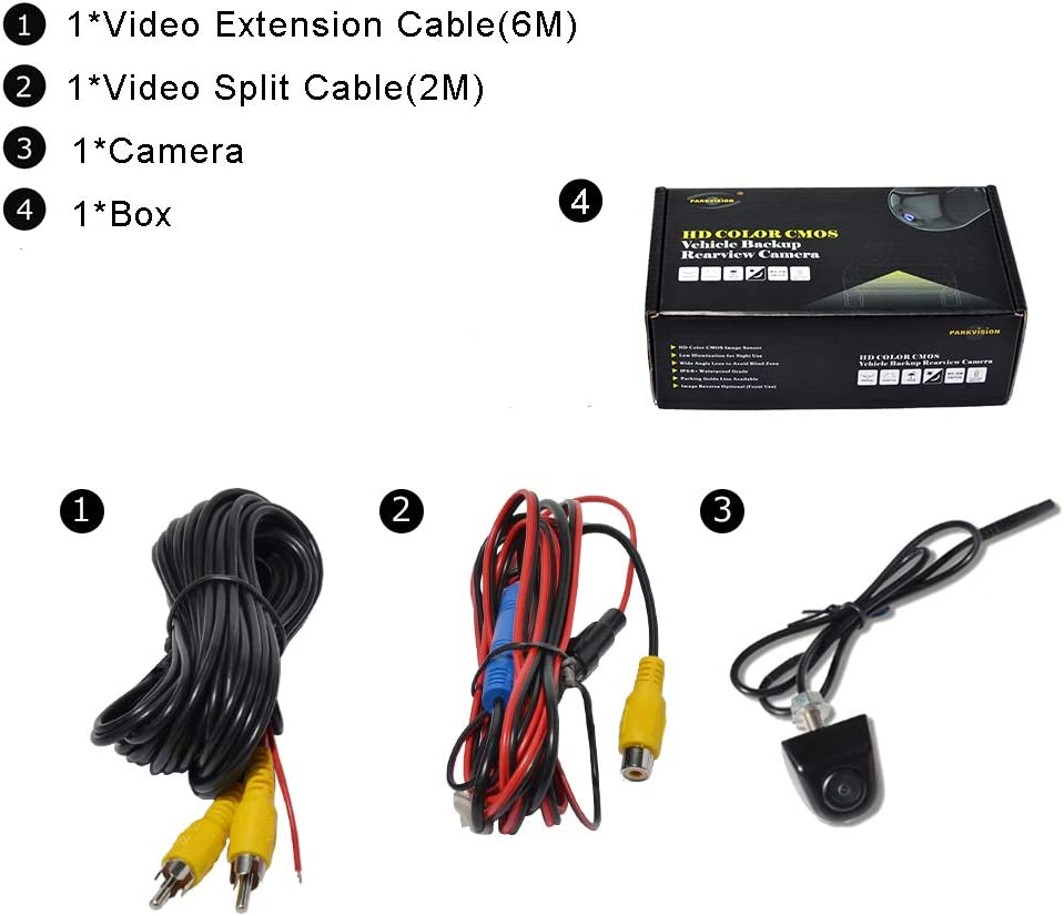 Front Camera with 0 lux Minimum Illumination Super Night Vision for Most Cars Real 172/°Super Wide Angle Rear View Backup Camera etc. Mini Truck PARKVISION Upgraded Reverse Camera ZL-191FR