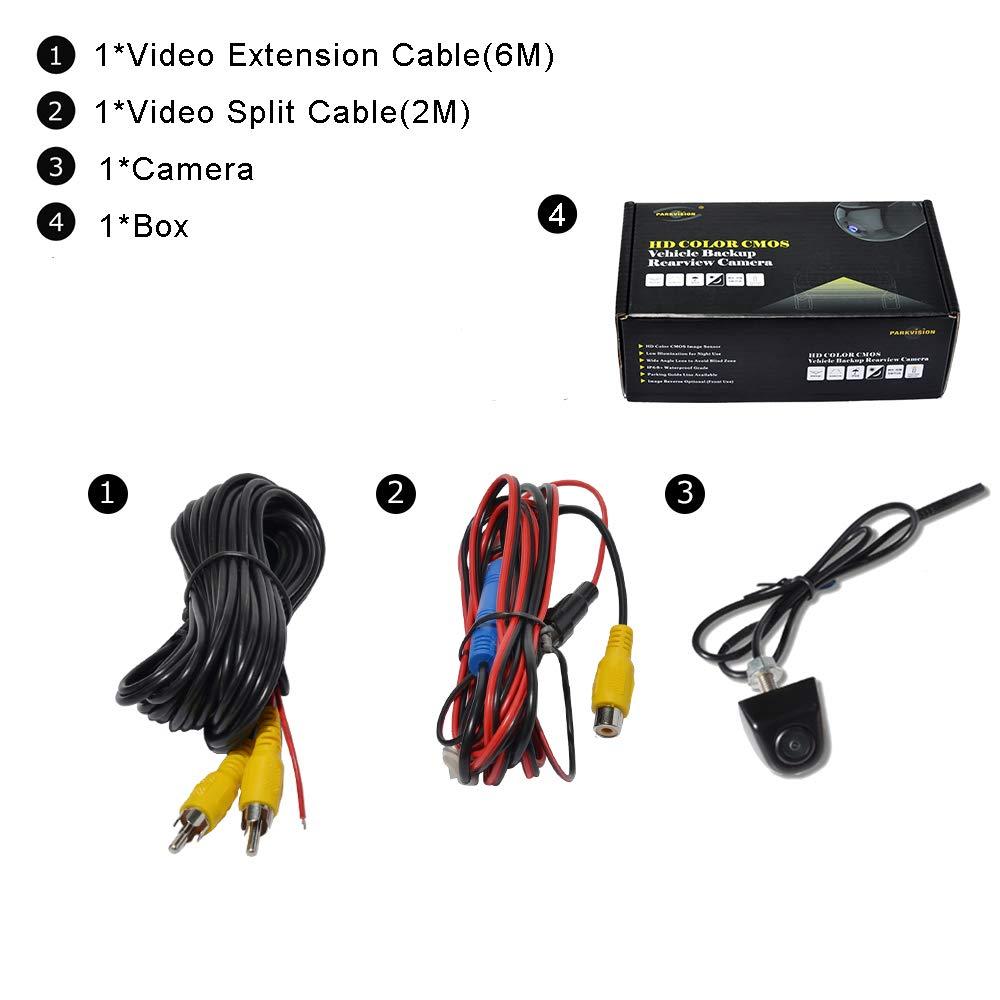 PARKVISION R/ückfahrkamera Horizontal 172/° Vertika 95/° Super Weitwinkel 0 Lux Nachtsicht Kamera HD CMOS-Sensor Einparkkamera