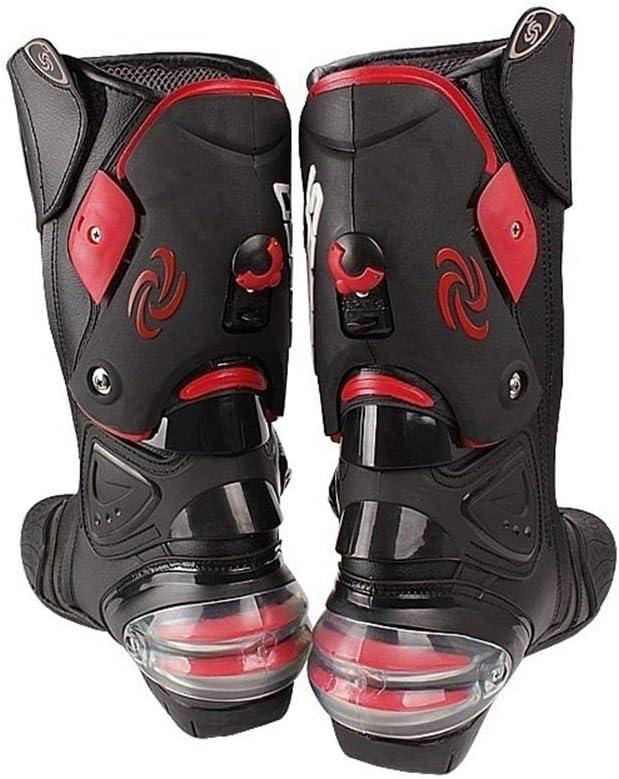 Oshide PRO-Biker Speed Bikers Motorcycle Boots Moto Off-Road Motorbike Boots Racing Motocross Black//White//Red Size 40//41//42//43//44//45