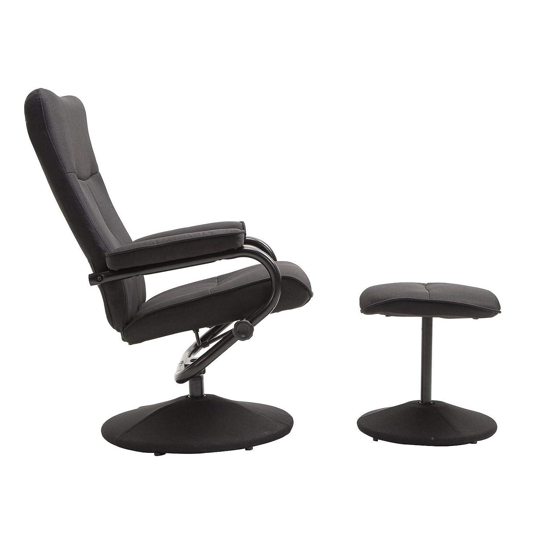 CARO-Möbel CARO-Möbel CARO-Möbel Relaxsessel Dakota mt Hocker Fernsehsessel Liegesessel Verstellbare Rückenlehne in grau a09bb0
