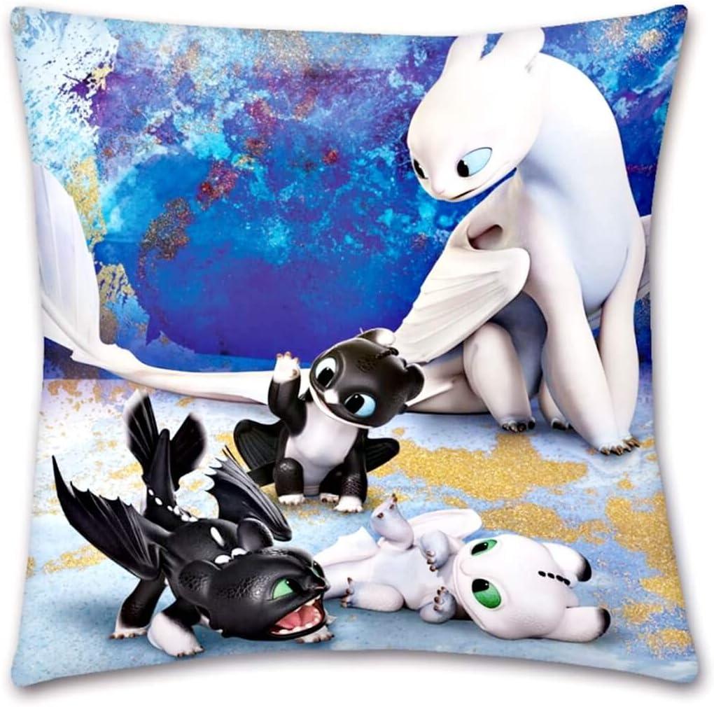 Cuddly Throw Cushion DreamWorks Kids Pillow 40 x 40 cm Dragons Family