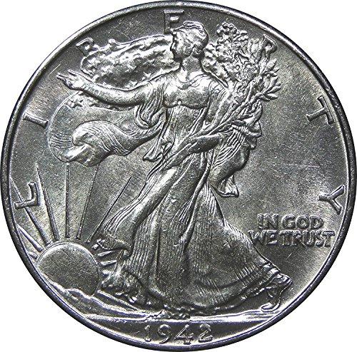 1940 - 1945 U.S. Walking Liberty Silver Half Dollar Coin Half Dollar About Uncirculated Condition