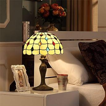 Lámpara de mesa Tiffany de 12 pulgadas Lámpara de mesa retro ...