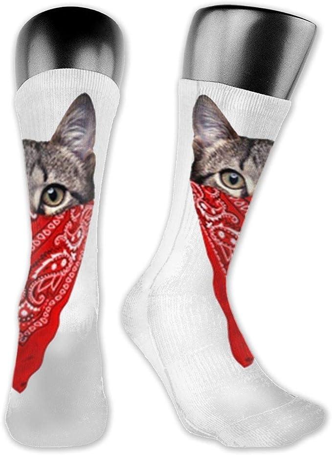 Mens Athletic Cushion Crew Sock leopard pattern jagua Long Sock Casual