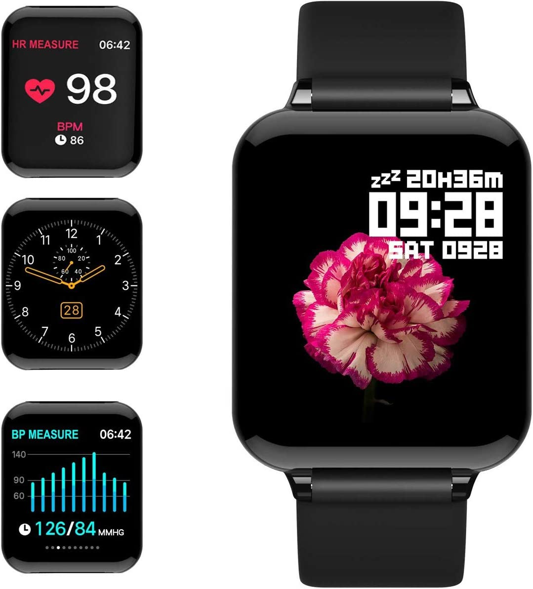 Fitness Tracker Activity Tracker with Heart Rate Monitor 1.3 Color Screen with Blood Pressure Sleep Monitor Step Calorie Counter Waterproof Band for Men Women Kids feifuns Smart Watch